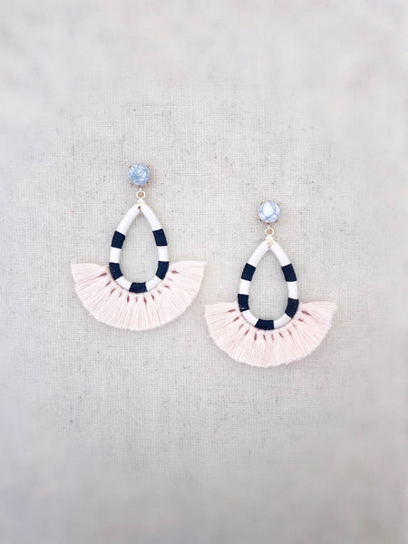 Hilo Tassel Earrings {Blush Pink}
