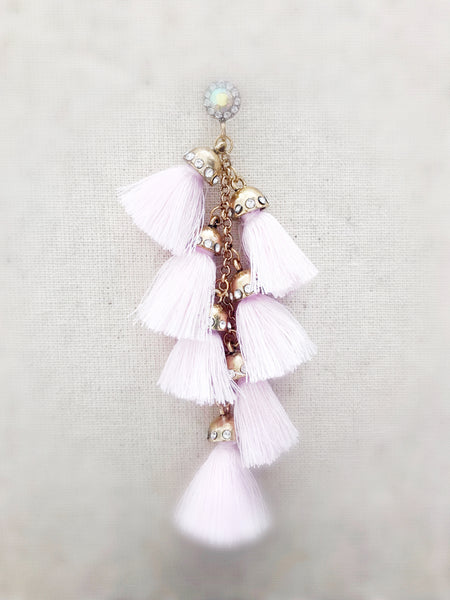 Waimea Tassel Earrings {PINK}