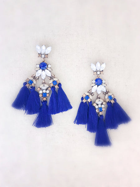 Kaanapali Tassel Earrings {Blue}