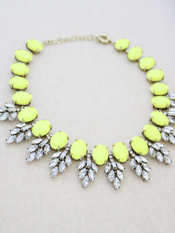 Kuakini Statement Necklace {Yellow}