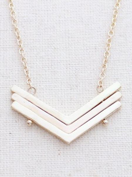 Mahalo Chevron Necklace