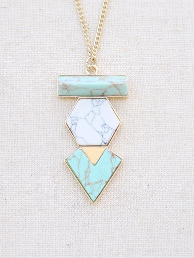 Mahina Long Necklace {mint}