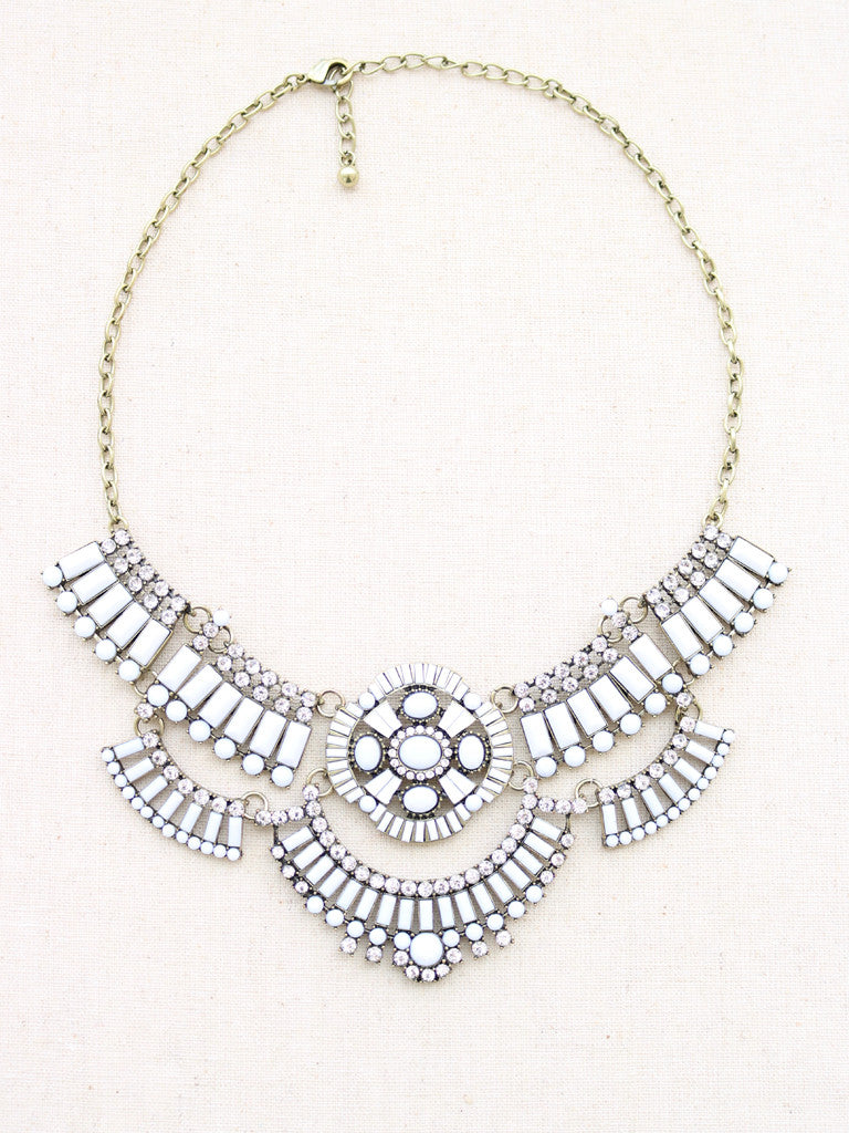 white statement necklaces  statement jewelry  crystal statement necklace  womens necklace  necklaces for women  silver statement necklace  big statement necklaces