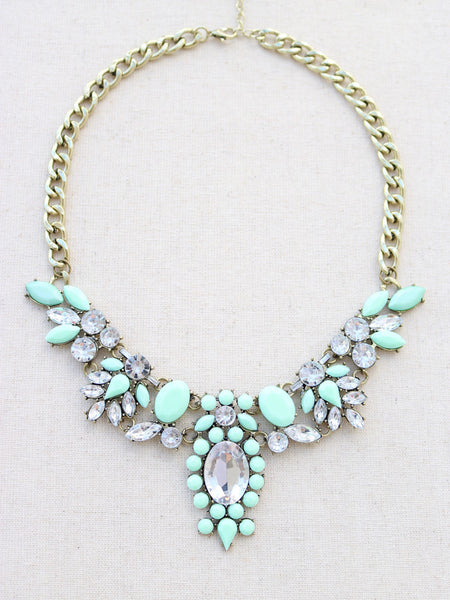 Kapalua Statement Necklace - Mint
