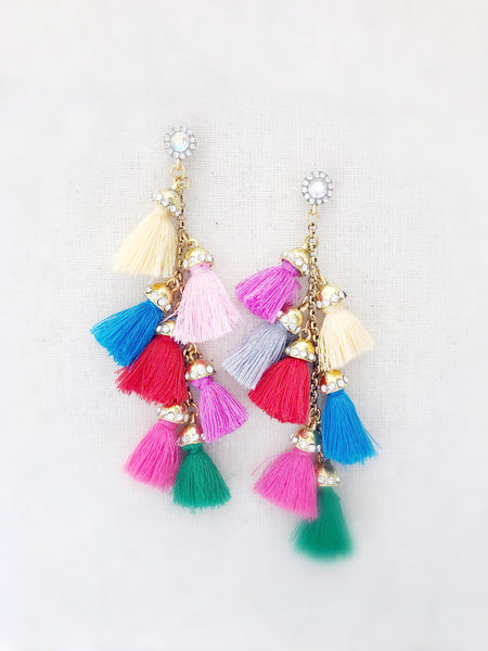 Waimea Tassel Earrings {Multicolor}