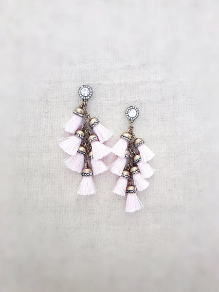 Waimea Tassel Earrings {MINI PINK}