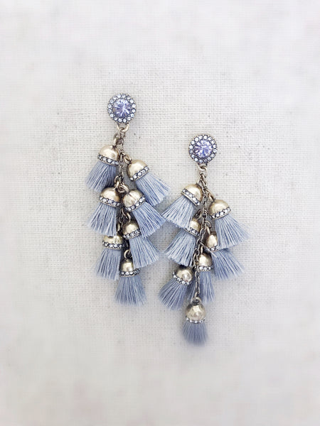 Waimea Tassel Earrings {MINI GRAY}