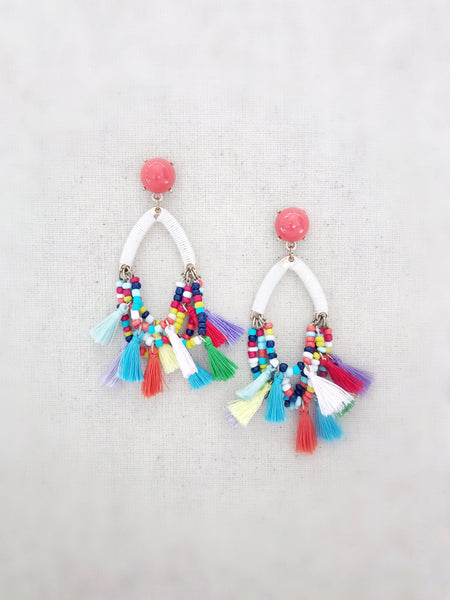 Multi-Colored Earrings {White}