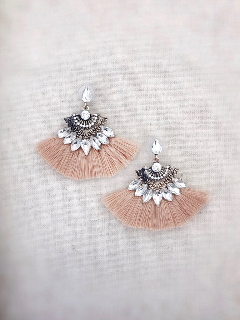 Kilauea Tassel Earrings {Tan}