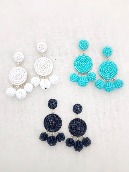 Kamuela Beaded Earrings {Black}