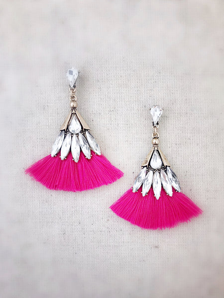 Leahi Earrings {Hot Pink}