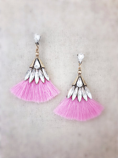 Leahi Earrings {Light Pink}