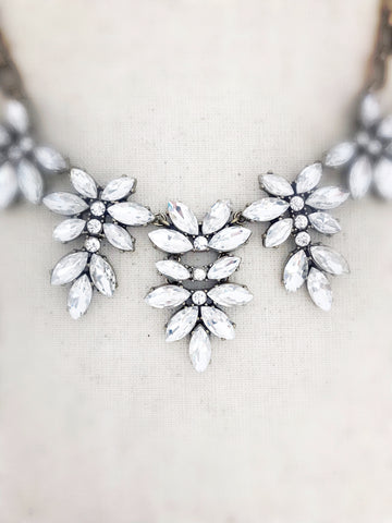 Manoa Statement Necklace {Crystal}