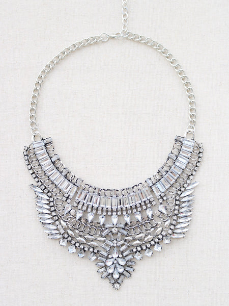 Kahuku Statement Necklace - {Silver}