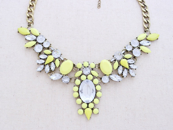 Kapalua Statement Necklace - Yellow