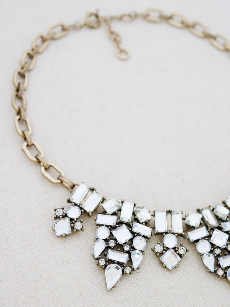 Kapolei Statement Necklace {Crystal}