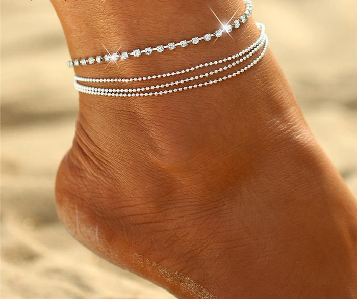 Multi-layer Sexy Crystal Anklet - CrazyPassionateAbout.com