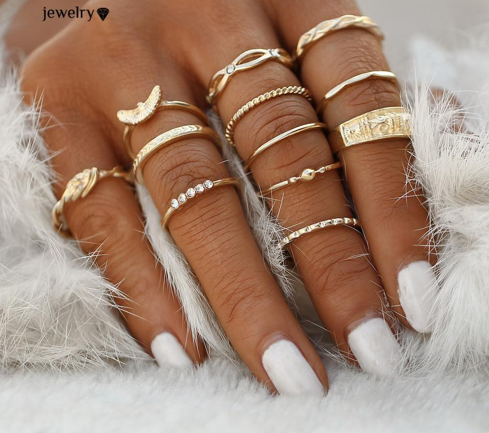 Boho Knuckle Rings Set - CrazyPassionateAbout.com