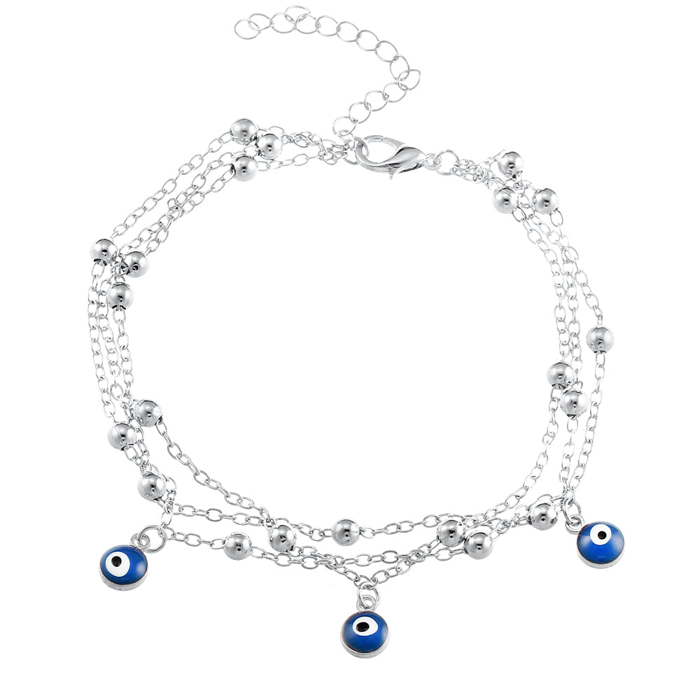 Turkish Eyes Beads Anklet - CrazyPassionateAbout.com