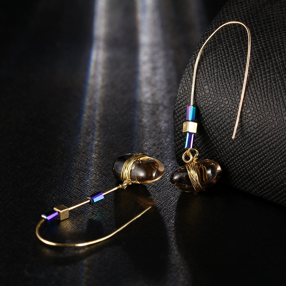 Bohemian Big Stone Drop Earring - CrazyPassionateAbout.com