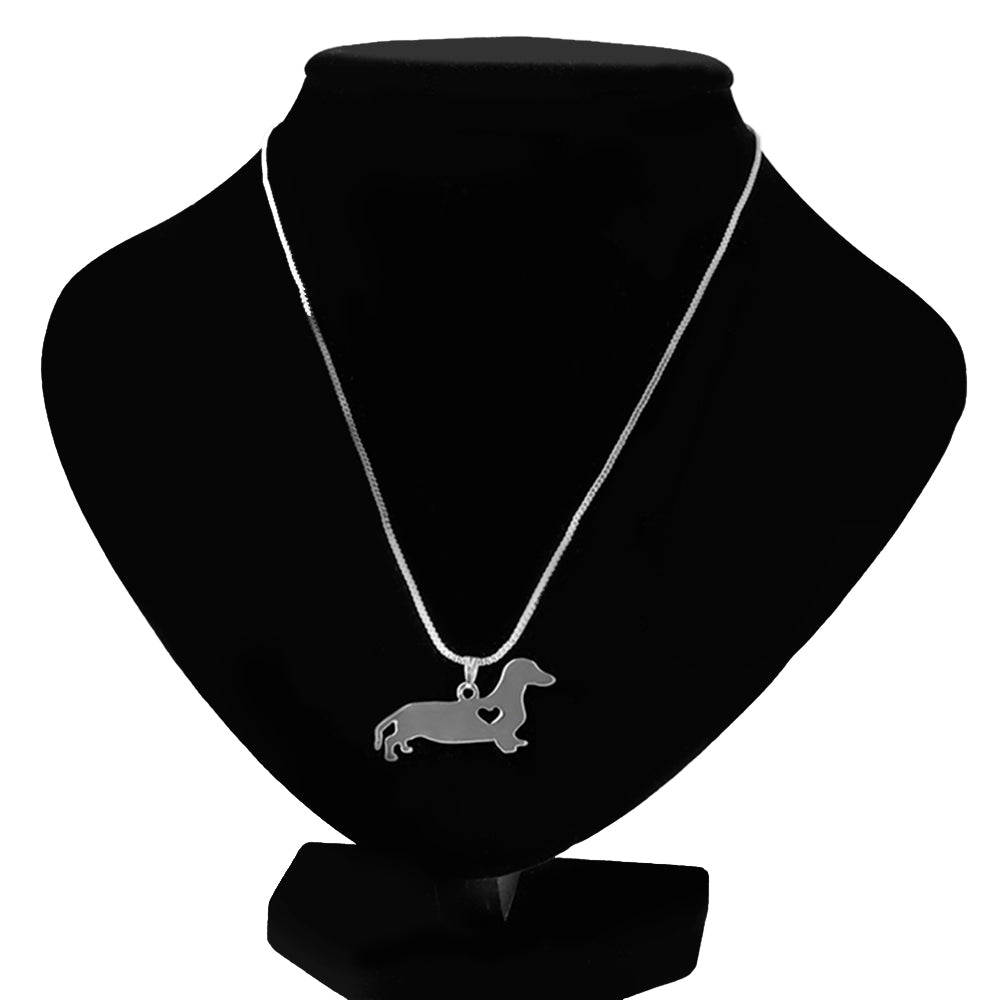 Dachshund Pendant Necklace - CrazyPassionateAbout.com