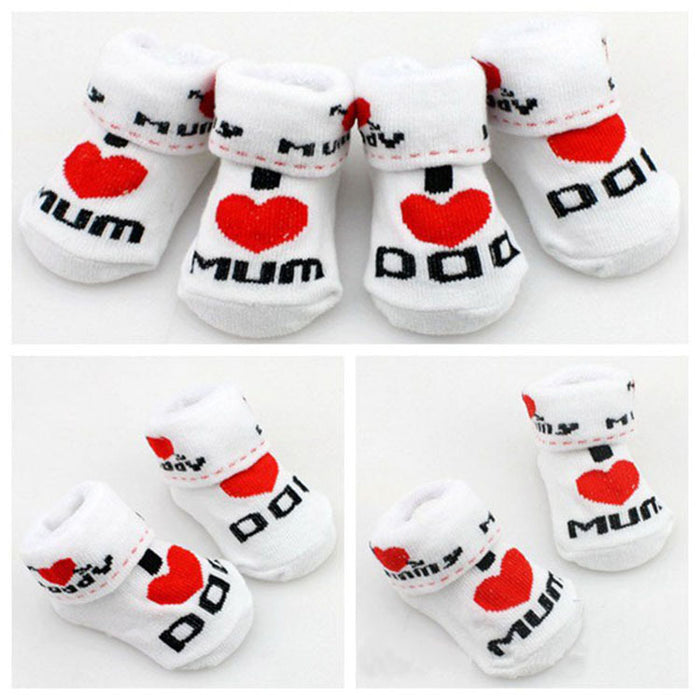 Mum / Dad Baby Socks - CrazyPassionateAbout.com