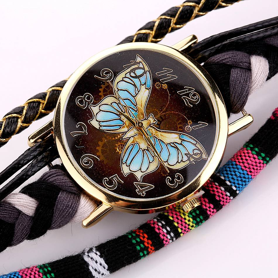 Retro Leather Butterfly Watch - CrazyPassionateAbout.com