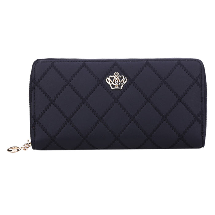 Long Purse Clutch Crown Wallet - CrazyPassionateAbout.com
