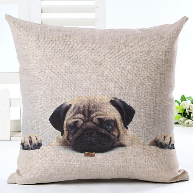 Pug Home Decorative Sofa Pillow Case - CrazyPassionateAbout.com