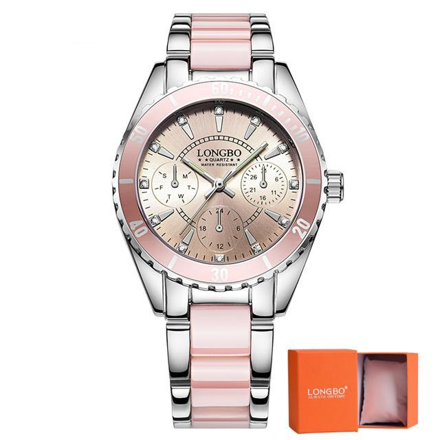 Pink Luxury Ceramic Watch Bracelet - CrazyPassionateAbout.com