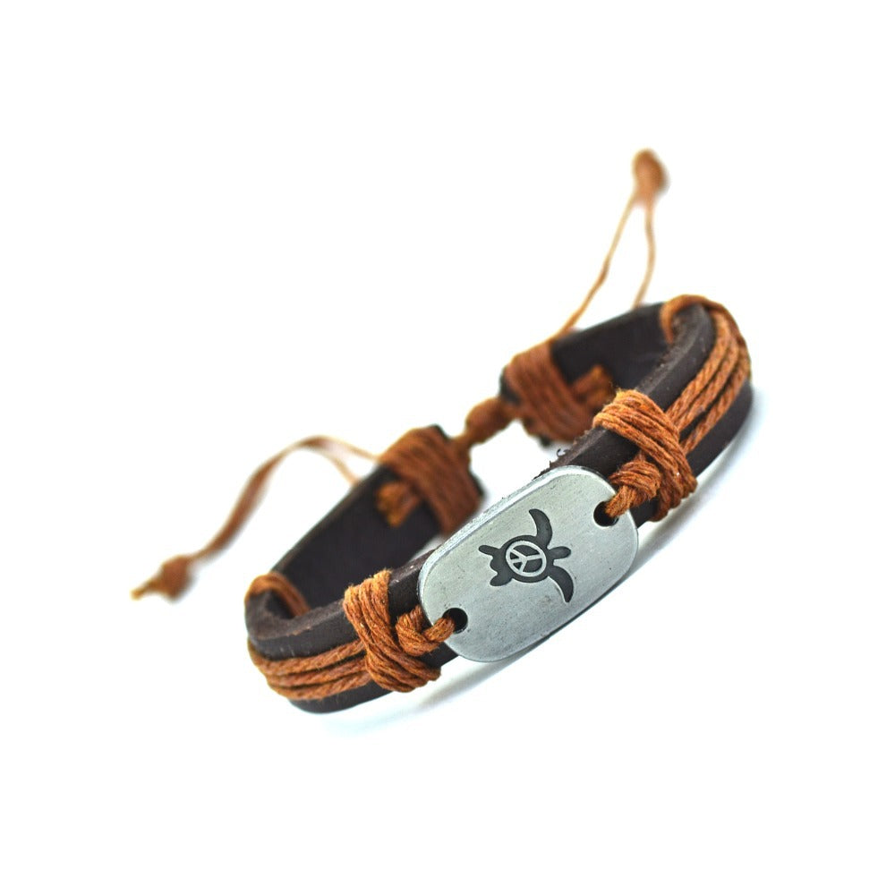Turtle Leather Bracelet - CrazyPassionateAbout.com