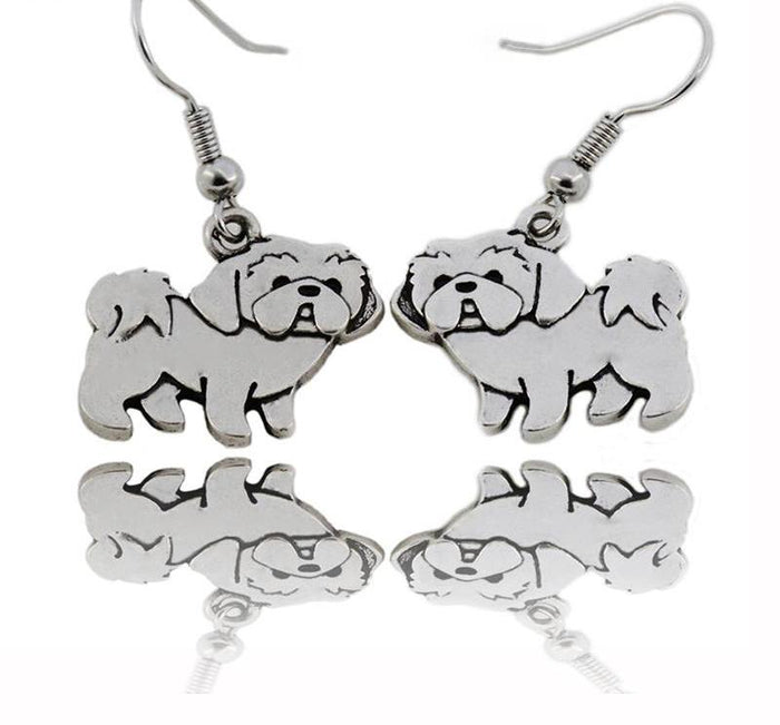 Shih Tzu Drop Earring - CrazyPassionateAbout.com