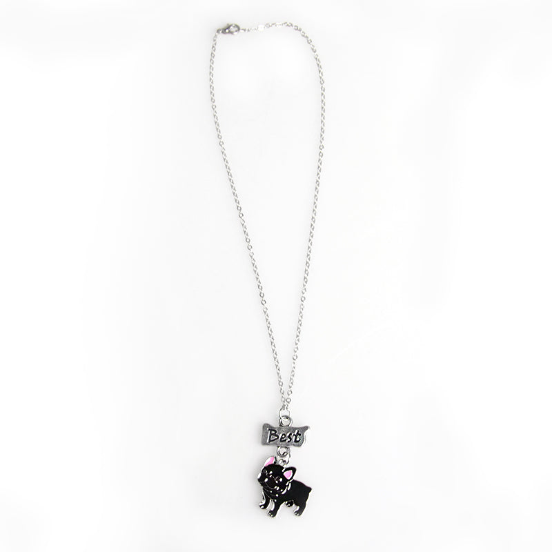 Bulldog Best Friends Necklace - CrazyPassionateAbout.com