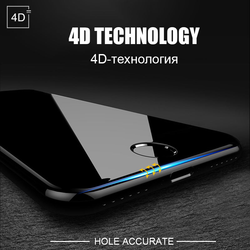 4D Round Curved Edge Tempered Glass For iPhone - CrazyPassionateAbout.com
