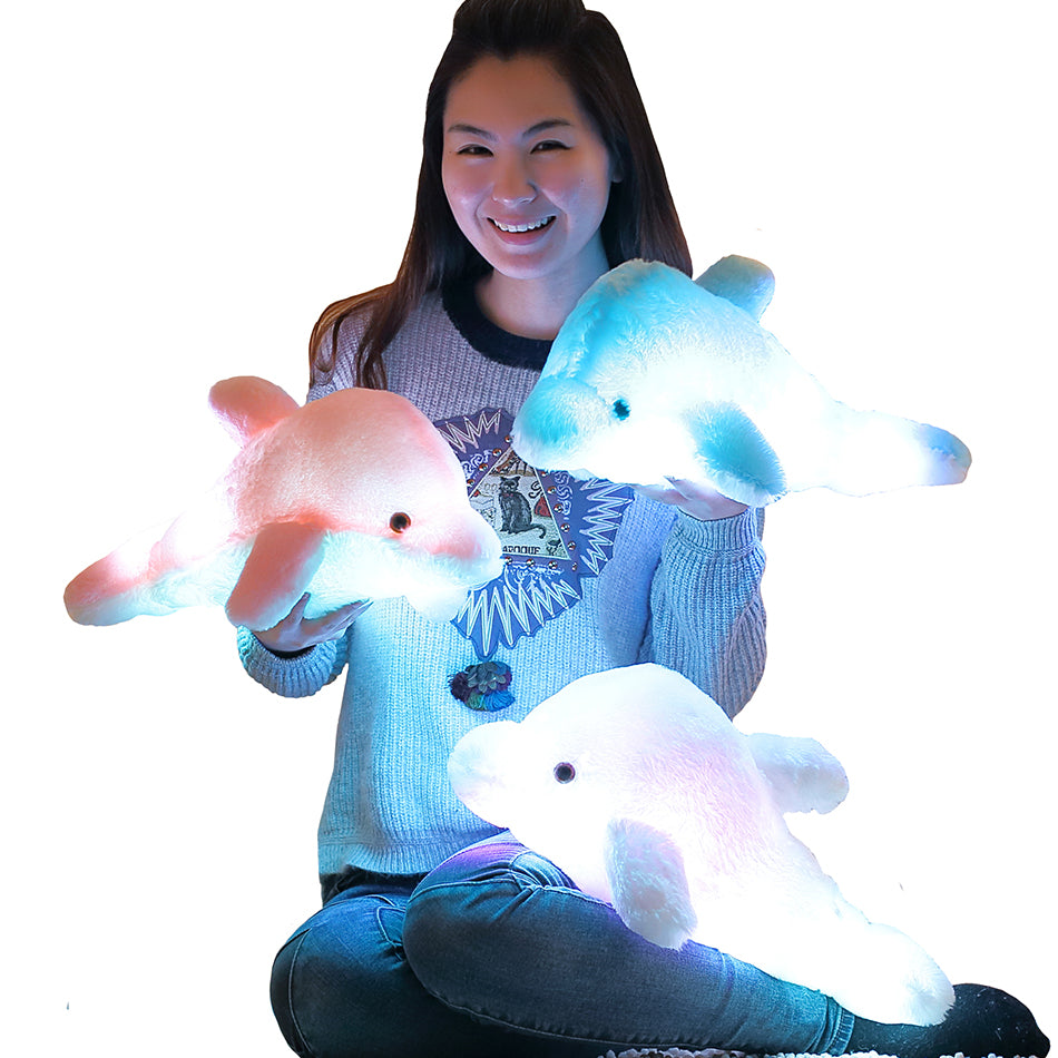 Dolphin Doll Glowing Pillow - CrazyPassionateAbout.com
