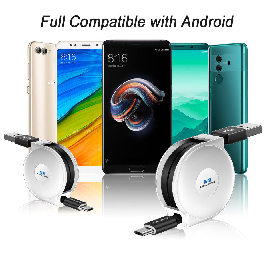 Retractable Cable Charger for Android - CrazyPassionateAbout.com