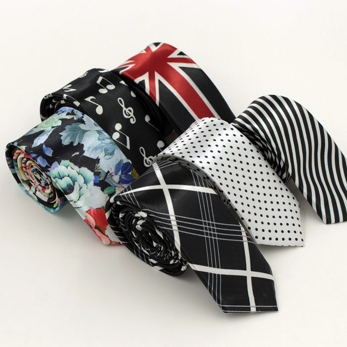 Printed Style Slim Tie - CrazyPassionateAbout.com