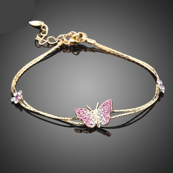 Crystal Butterfly Charm Bracelet - CrazyPassionateAbout.com