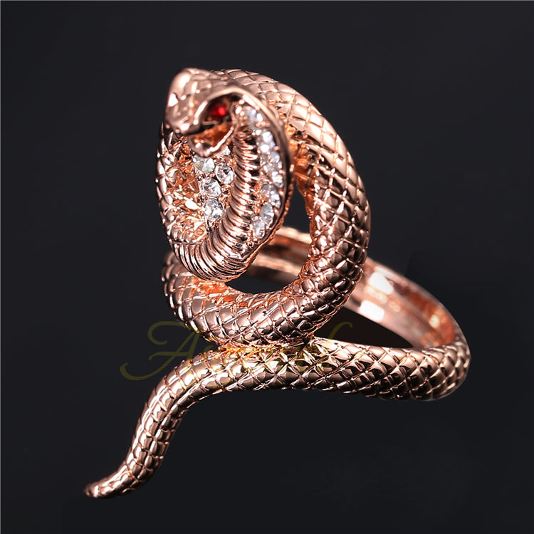 Rose Gold Snake Ring - CrazyPassionateAbout.com