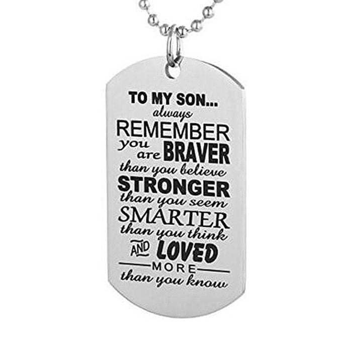 Always Remember To My Son Necklace - CrazyPassionateAbout.com