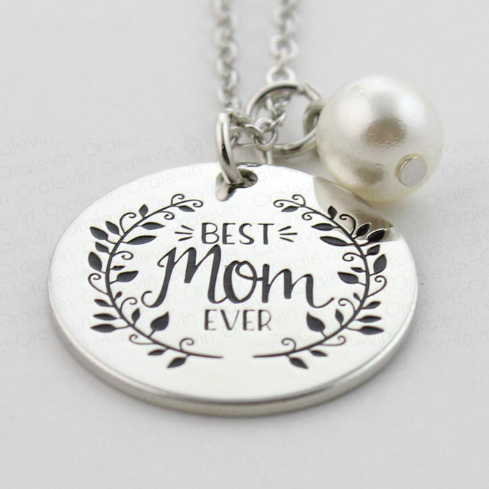 Best Mom Ever Pendant Necklace - CrazyPassionateAbout.com