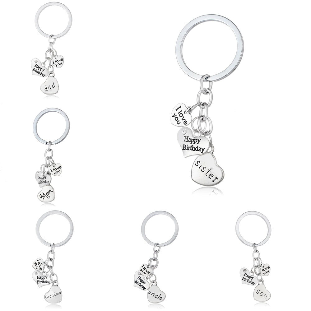 Family Heart Keychain - CrazyPassionateAbout.com