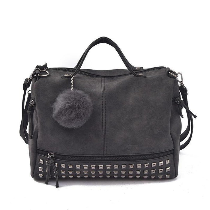 Top-handle Rivet Bag - CrazyPassionateAbout.com