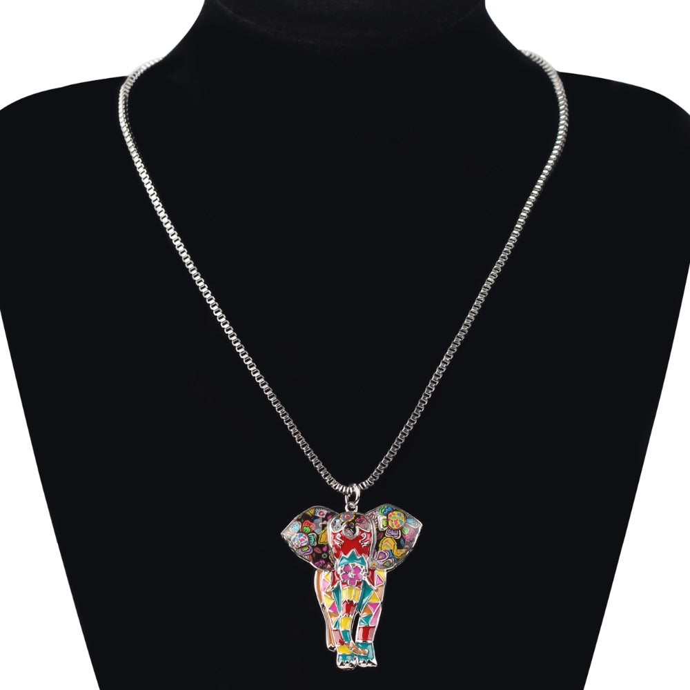 Elephant Statement Necklace - CrazyPassionateAbout.com