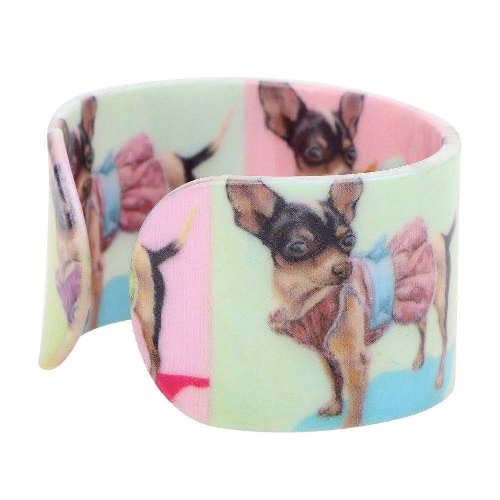 Chihuahua Acrylic Love Bracelets - CrazyPassionateAbout.com