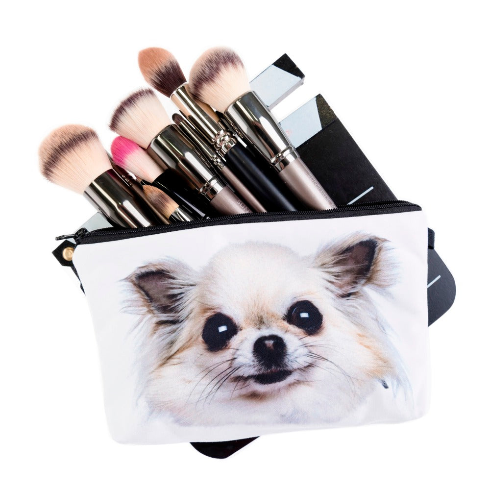 3D Chihuahua Printed Cosmetic Bag - CrazyPassionateAbout.com