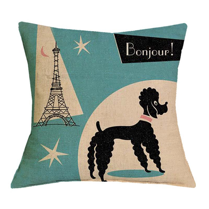 Poodle Printed Cushion Cover - CrazyPassionateAbout.com