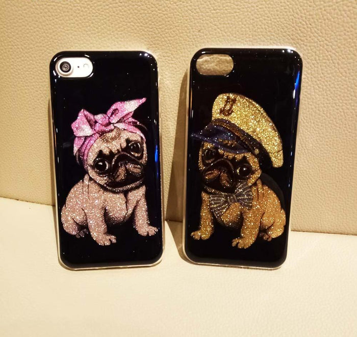 Pug Glitter Cover For iPhone - CrazyPassionateAbout.com