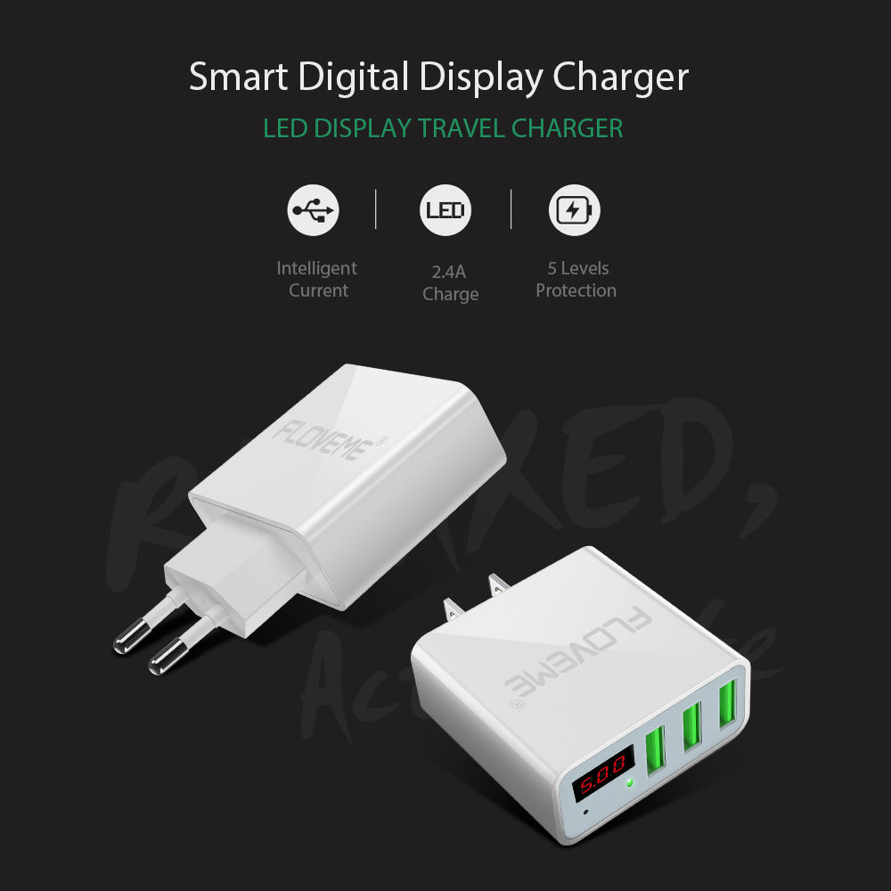 3 Ports+LED Display Portable Phone Chargers - CrazyPassionateAbout.com