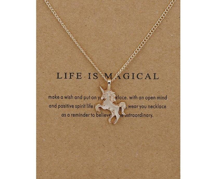 Life Is Magical Unicorn Necklace - CrazyPassionateAbout.com